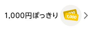 1,000円ぽっきり